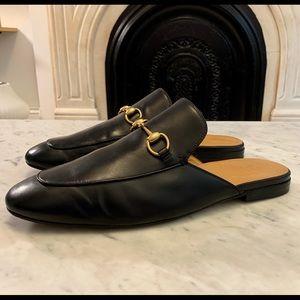Gucci Black King Horsebit Slipper Princetown Slide